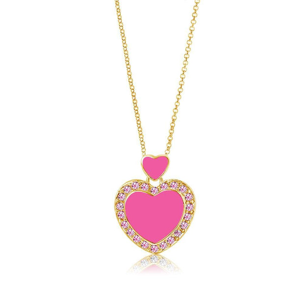 Swavorski Pink Hearts Pendent - Joy of London Jewels