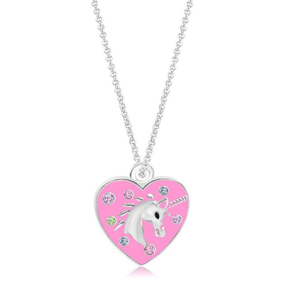 Swavorski Heart Unicorn Pendent - Joy of London Jewels