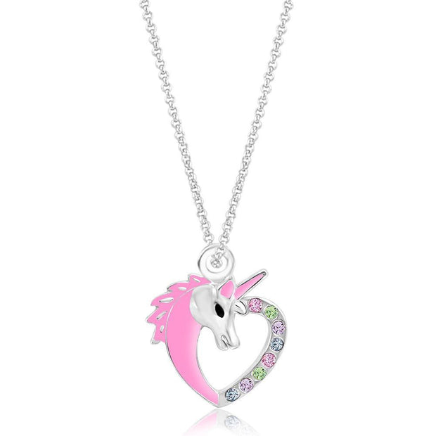 Swavorski Unicorn Heart Pendent - Joy of London Jewels