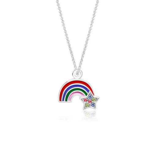 Swavorski Enamel Rainbow And Star Pendent - Joy of London Jewels