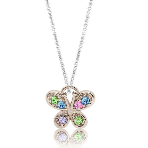 Kids Swavorski Crystal Butterfly Pendent - Joy of London Jewels