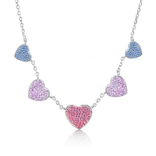 Heart Crystal Necklace Swavorski - Joy of London Jewels