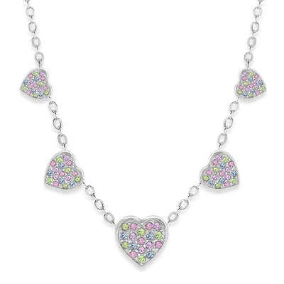 All Around Hearts Crystal Necklace