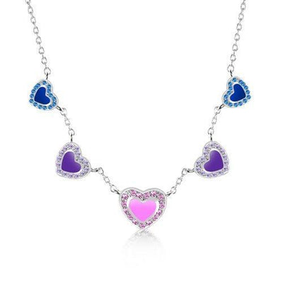 Swavorski Enamel Heart Necklace - Joy of London Jewels