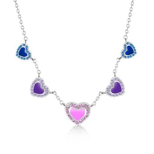 Swavorski Enamel Heart Necklace