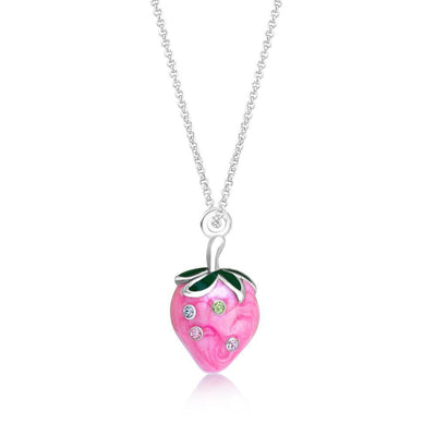 Swavorski Crystal Pink Strawberry Pendent - Joy of London Jewels