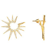 22CT Yellow Gold Supernova Burst Earrings