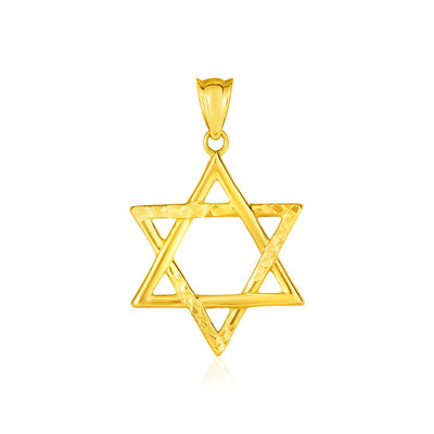 14K Yellow Gold Star of David Pendant Necklace - Joy of London Jewels