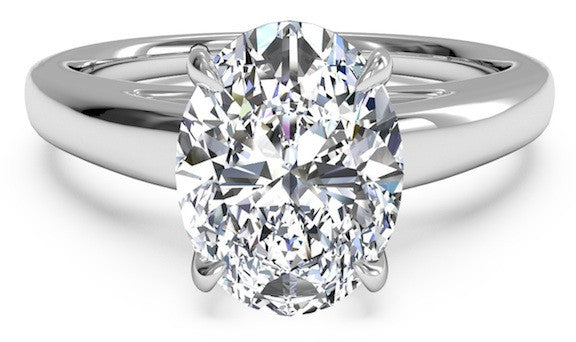 A Classic 3.6CT Oval Cut Belgium Lab Diamond Solitaire Engagement Ring - Joy of London Jewels
