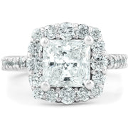 14K White Gold Ethically Mined Princess Cut Diamond Engagement Ring