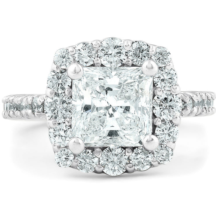 14K White Gold Ethically Mined Princess Cut Diamond Engagement Ring - Joy of London Jewels