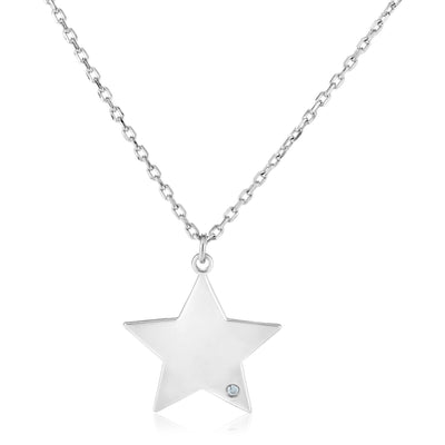 Earth Mined Diamond Star Necklace - Joy of London Jewels