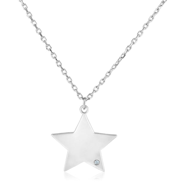 Earth Mined Diamond Star Necklace