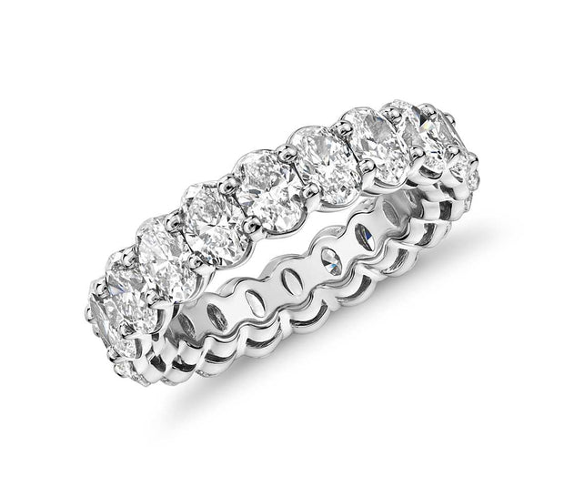 A Flawless 5.25TCW Oval Cut Belgium Lab Diamond Full Eternity Ring - Joy of London Jewels