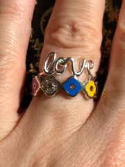 The Love Enamel Stacking Set - Joy of London Jewels