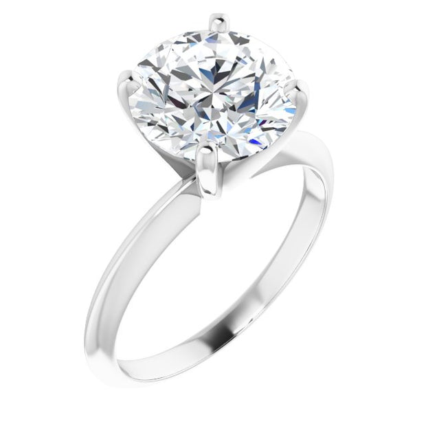 A Classic 14K White Yellow Rose Gold 3CT Round Cut Belgium Lab Solitaire Engagement Ring - Joy of London Jewels