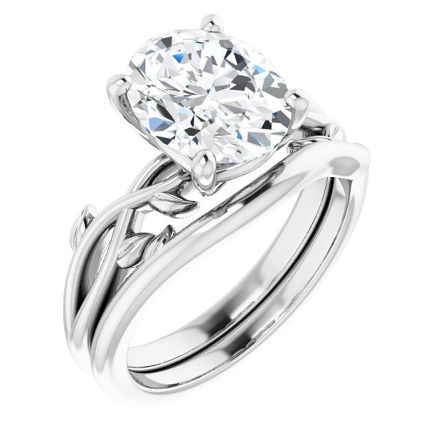 The Roses, A 2CT Oval Belgium Lab Solitaire Engagement Ring - Joy of London Jewels