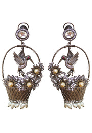 June Ramayana Kundan Earrings - Bridal Earrings  - Gift for Mom - Joy of London Jewels