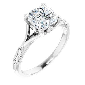 The Pacabia, A 1.5CT Antique Square (Cushion Cut) Belgium Lab Solitaire Engagement Ring - Joy of London Jewels
