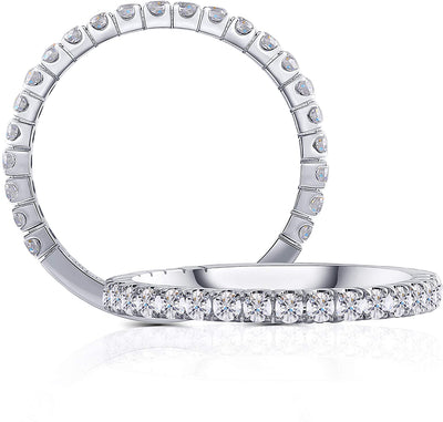 14K White Gold .50TCW Moissanite Eternity Wedding Band