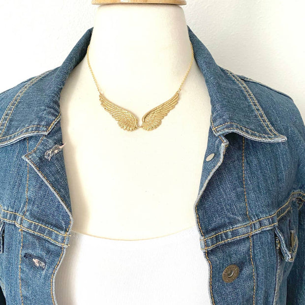 Handmade Golden Wings Necklace - Joy of London Jewels