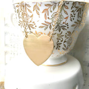 SALE  Handmade Modern Gold Heart Necklace - Joy of London Jewels