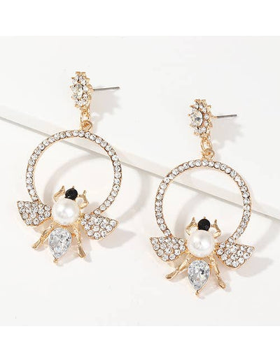 Swarovski Pearly Bee Mine Earrings - Joy of London Jewels