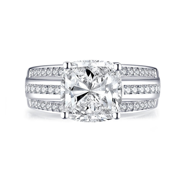 A Flawless 4CT Radiant Cut Belgium Lab Diamond Engagement Ring - Joy of London Jewels