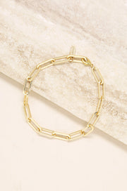 Interlinked 18k Gold Plated Chain Anklet - Joy of London Jewels