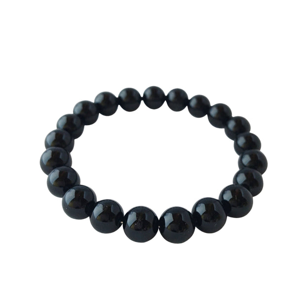 4mm Black Tourmaline Bracelet - Joy of London Jewels