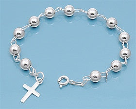 Italian Sterling Silver Rosary Prayer Bracelet - Joy of London Jewels