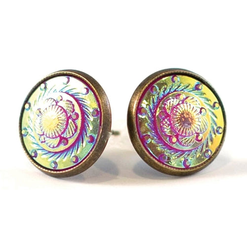 Upcote Button Stud Earrings - Joy of London Jewels
