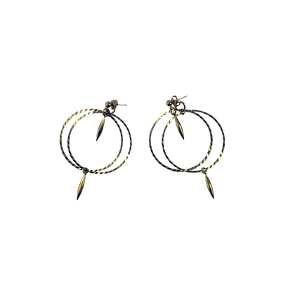 Double Etched Hoop Earrings