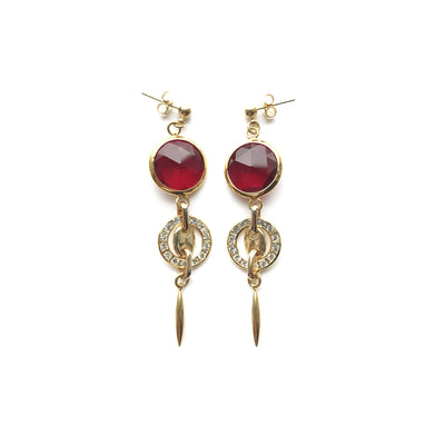 Roman Red Divinity Earrings