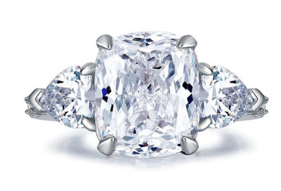 A Flawless 4.5CT Elongated Cushion Cut Belgium Lab Diamond Engagement Ring - Joy of London Jewels