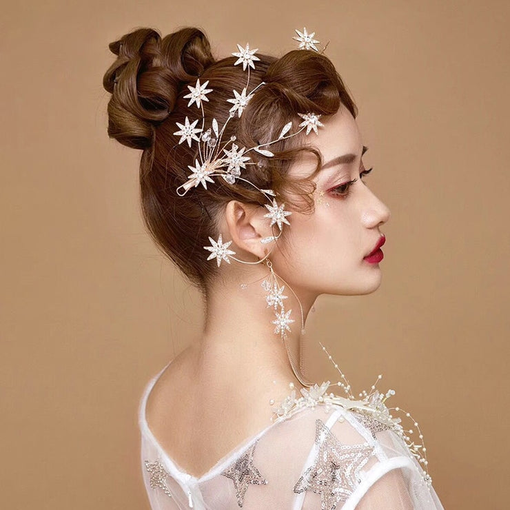 SALE  Handmade Crystal Star Hair Tiara & Earring Set - Joy of London Jewels