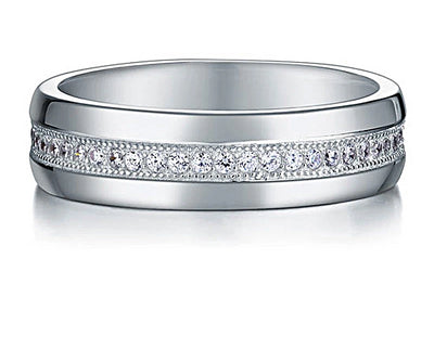 Men or Woman's Belgium Lab Diamond Wedding Band