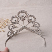 SALE  LIMITED EDITION Silver Bridal Headband Tiara with Crystals & Pearls - Joy of London Jewels