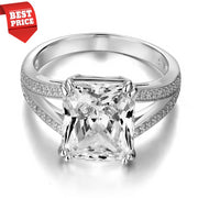 Flawless 6CT Radiant Cut Belgium Lab Diamond Solitaire Split Shank Engagement Ring - Joy of London Jewels