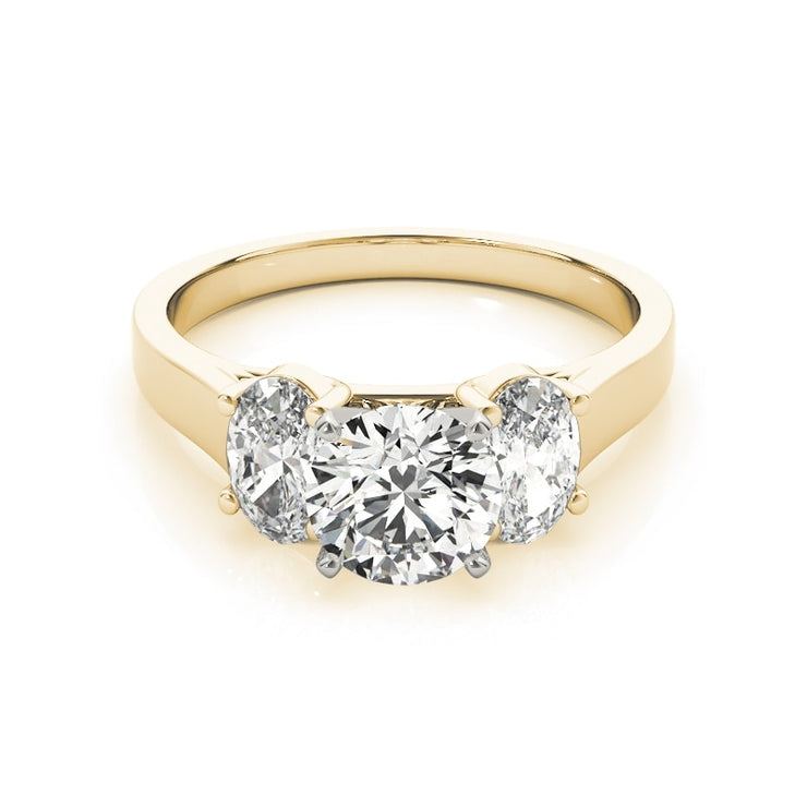 A Flawless Belgium Lab Diamond Three Stone Ring - Journey Ring - Engagement Ring - Joy of London Jewels