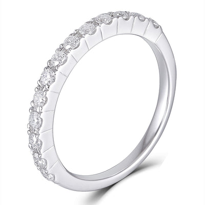 .45TCW Moissanite Half Eternity Wedding Band