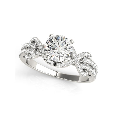 A Flawless Gold 1CT Round Cut Halo Belgium Lab Diamond Engagement Ring - Joy of London Jewels