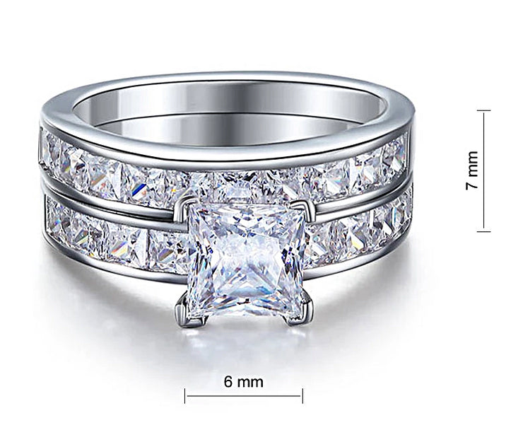 A Flawless 1CT Princess Cut Belgium Lab Diamond Bridal Set - Joy of London Jewels