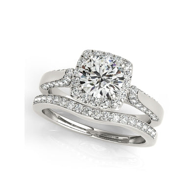 A Flawless 1CT Round Cut Belgium Lab Diamond Bridal Set - Joy of London Jewels