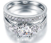A Flawless 1CT Round Cut Belgium Lab Diamond Bridal Set