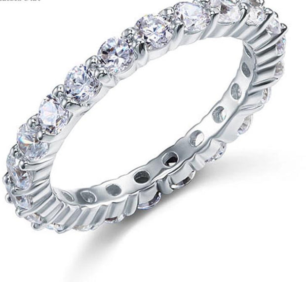 SALE  A Flawless 1.55TCW Round Cut Belgium Lab Diamond Full Eternity Ring - Joy of London Jewels