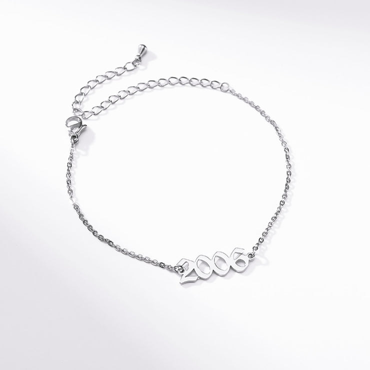 Handmade Personalized Special Date Engagement Year Bracelet - Joy of London Jewels