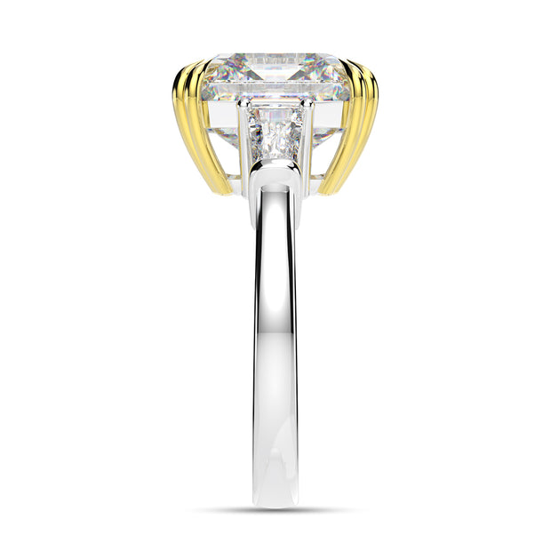 A 7CT Asscher Cut Belgium Lab Diamond Engagement Ring - Joy of London Jewels
