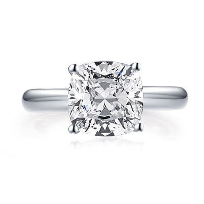 A Flawless 14K White Gold 3CT Cushion Cut Belgium Lab Diamond Engagement Ring - Joy of London Jewels