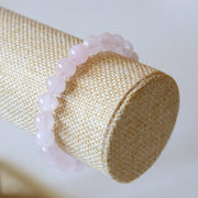 Bracelet en Quartz Rose – Perles 8mm